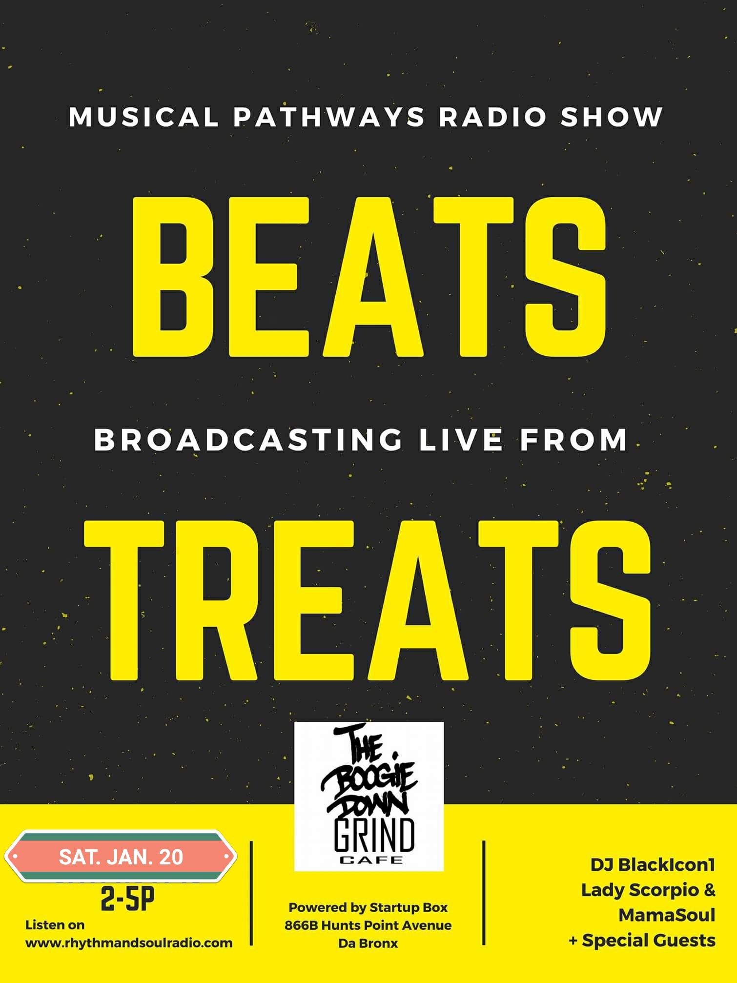 Musical Pathways Radio Show flyer