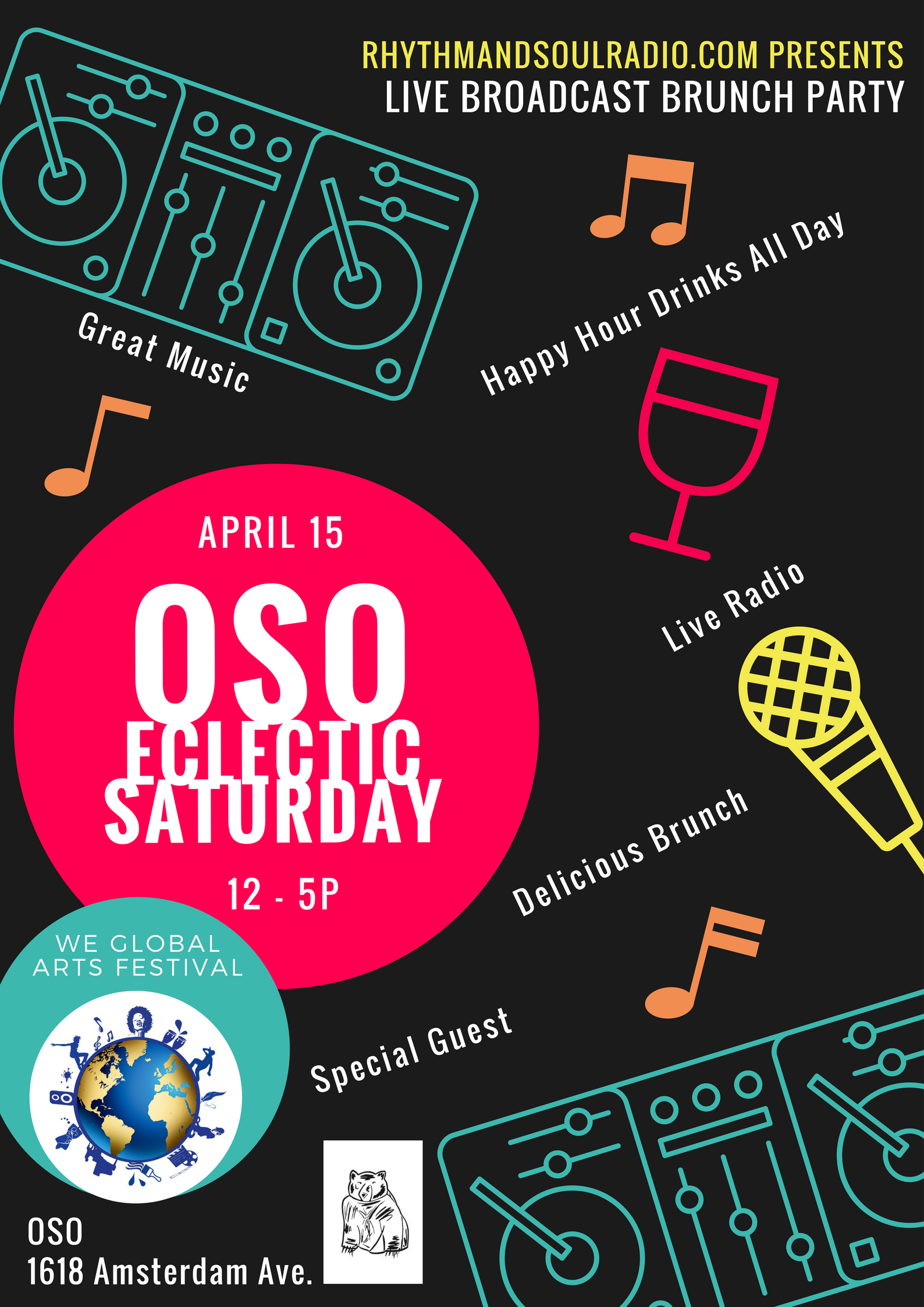 Oso Eclectic Saturday Brunch flyer