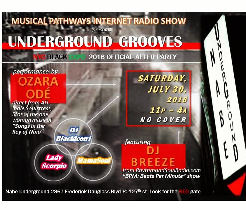 MP Radio Underground Grooves flyer