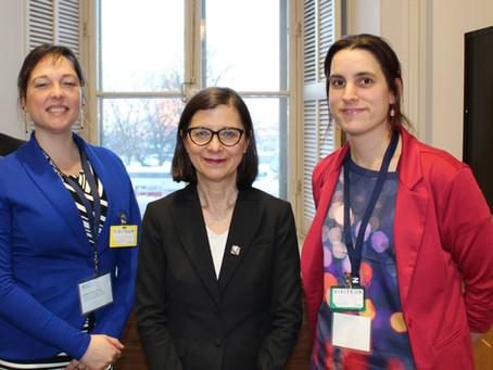 Rencontre avec la ministre de la santé, Mme Danielle McCann