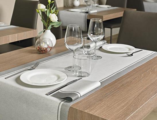 Tischläufer LOFT Grigio, 160 Stk. 48x120cm