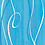 Thumbnail: Spirit Turchese, 40x40cm, 600 Stk.