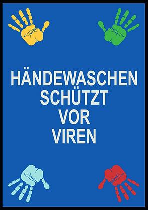 Händewaschen schützt