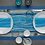 Thumbnail: Tischläufer Spirit Turchese, 40x120cm, 160 Stk.