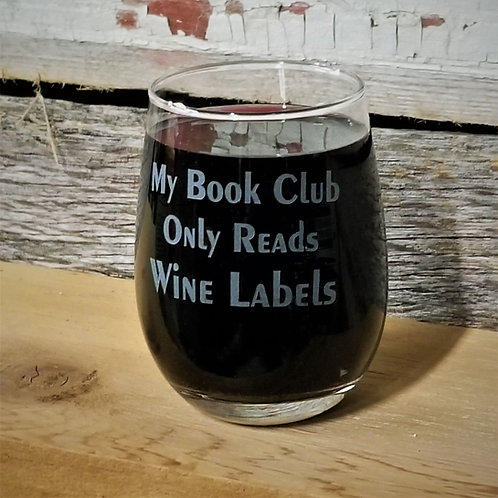 WINE GLASS - My Book Club Only Reads Wine Labels