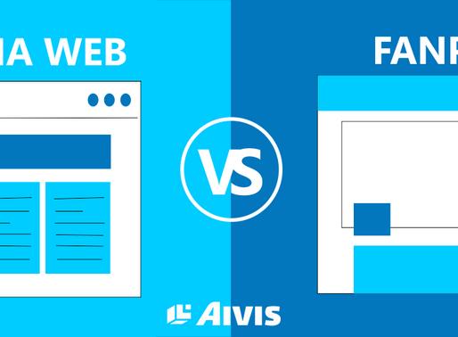 Fanpage ou Website?