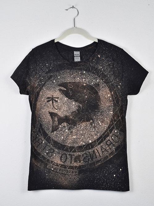 Stellar 'Salmon' T-shirt (size women's medium, fitted cut)