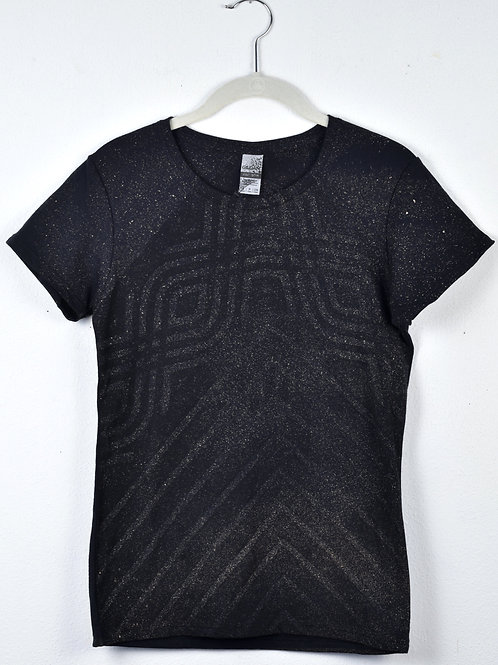 Geometric t-shirt (size women's small, fitted cut)