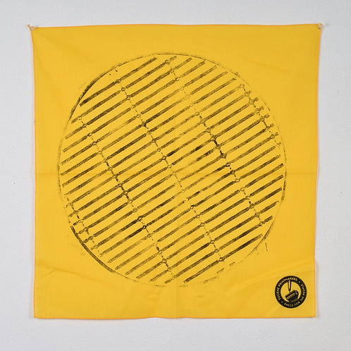 Yellow grate bandana
