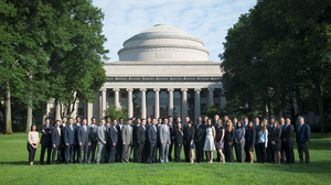 Ramon Gras Alomà and his graduating class from MIT