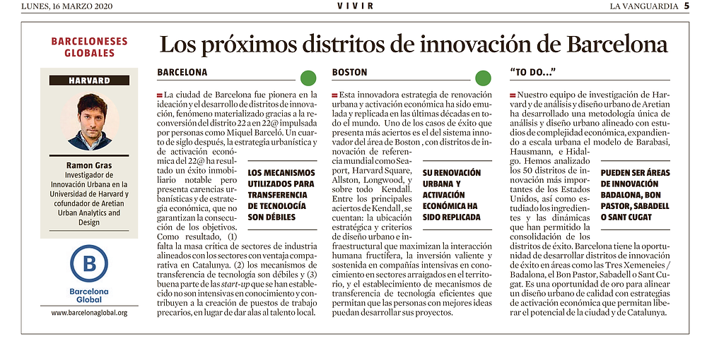 Ramon Gras Alomà, co-founder of Aretian, was published in La Vanguardia and Barcelona Global