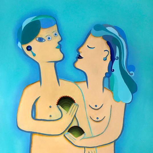 """""""Picasso y yo"""" acrílico / tela  65 x 50 cm.  AVAILABLE"""