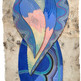 Maestra de lo invisible 60 x 20 cm.  mixta / papel amate  2019 AVAILABLE