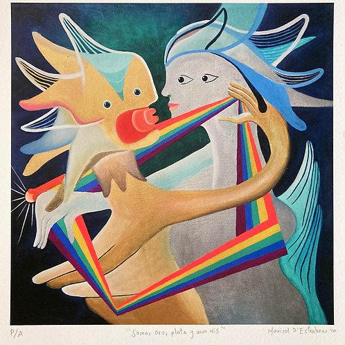Somos oro, plata y arco iris