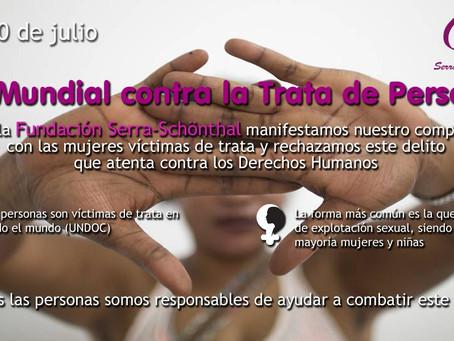 30 de julio. Día Mundial contra la Trata de Personas