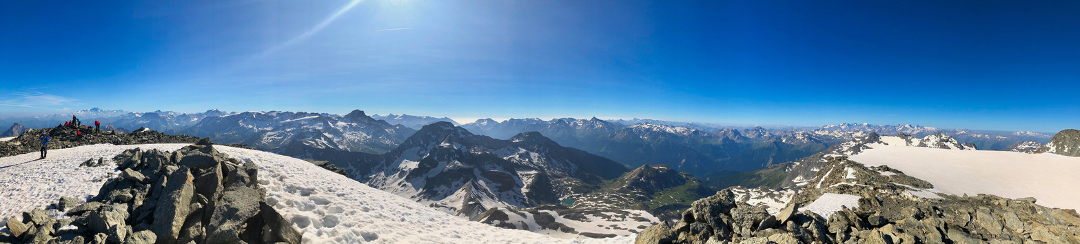 Panorama versant Alpes du Nord