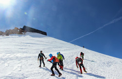 En route pour la cabane Margherita (4554 m)