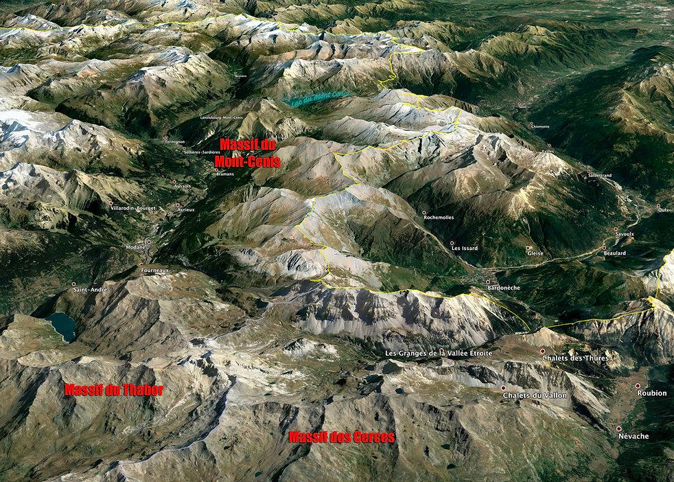 Carte du massif des Cerces