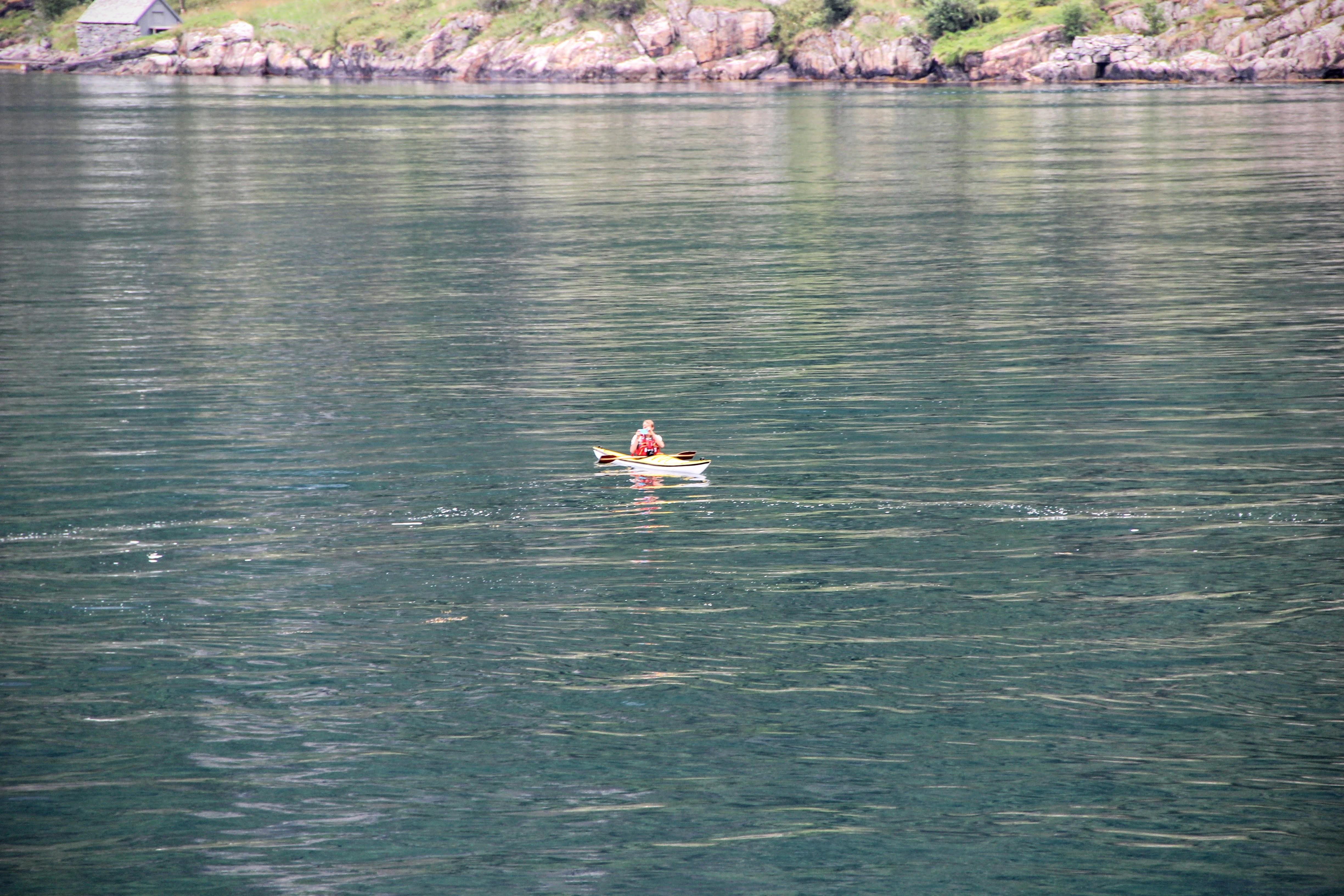 Kayak sur le Geiranger