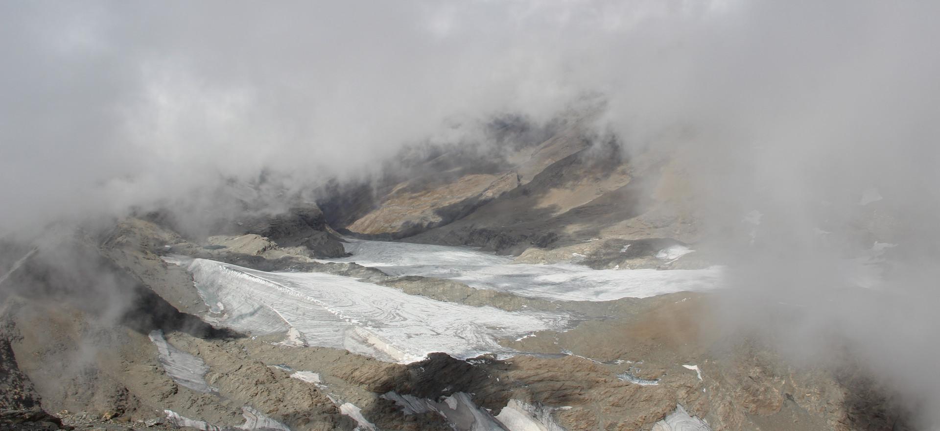 Le glacier de Rocciamelone sur le versant français