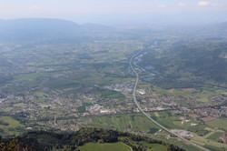 La vallée de l'Arve avec Bonneville