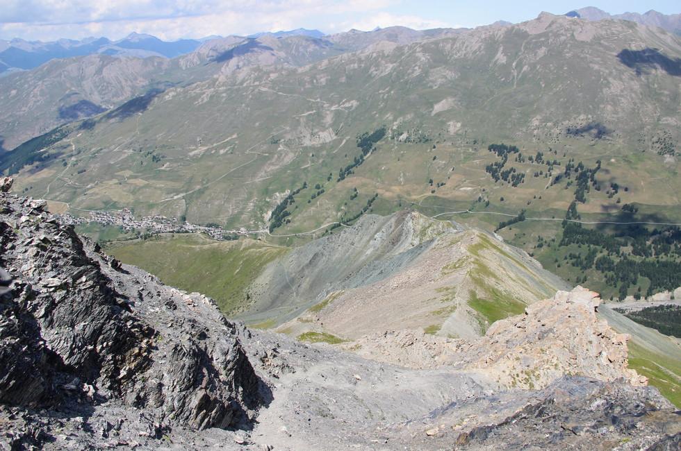 La descente vers le le Pic Cascavelier