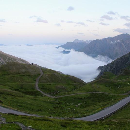 La nebbia côté italien du col Agnel