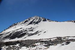 Le sommet depuis le glacier Lombard