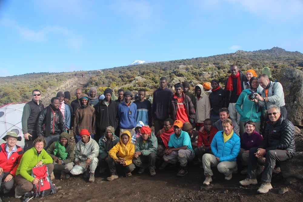 Photo de groupe avant les adieux
