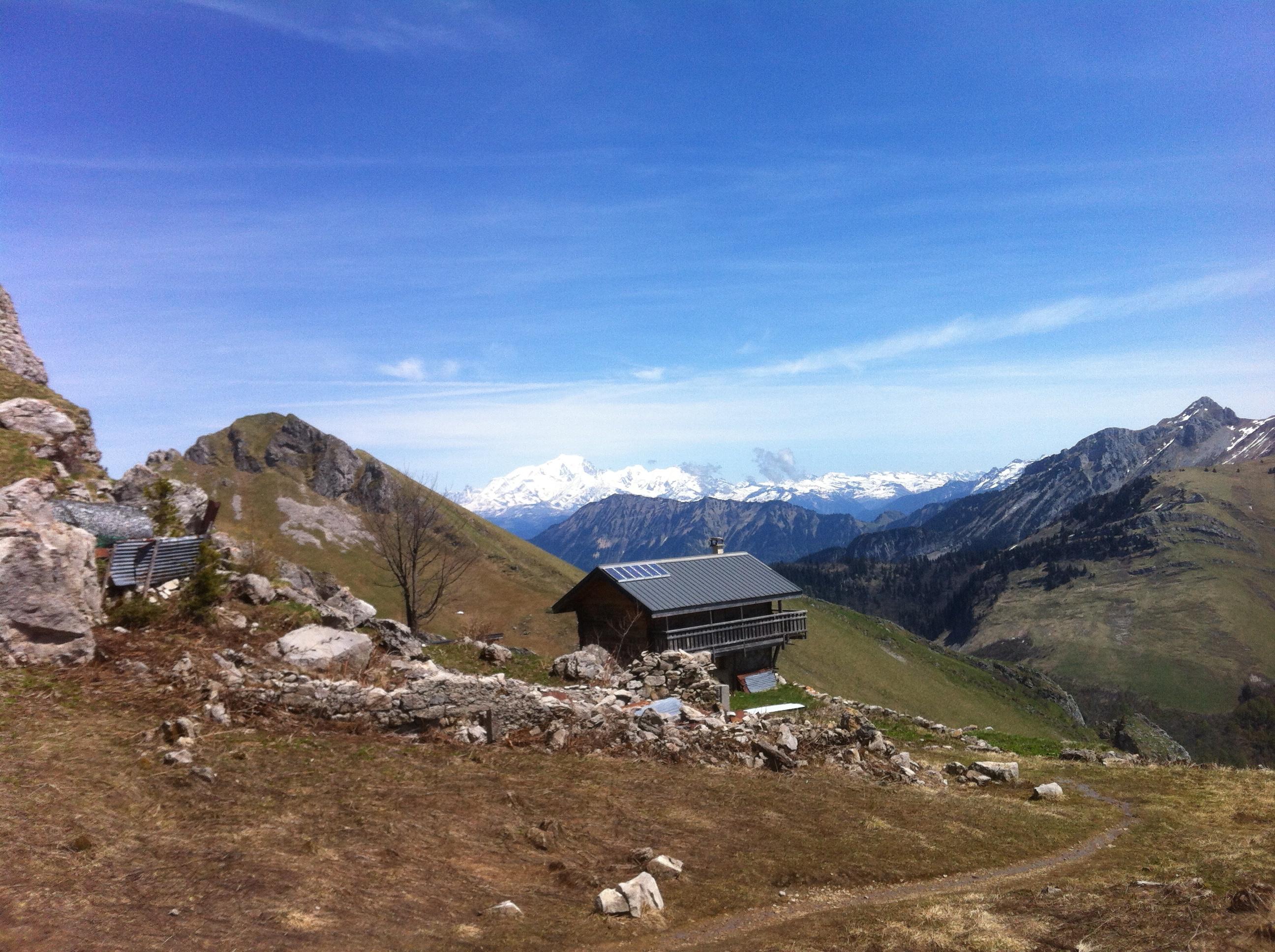 Avec le Mont-Blanc en prime !