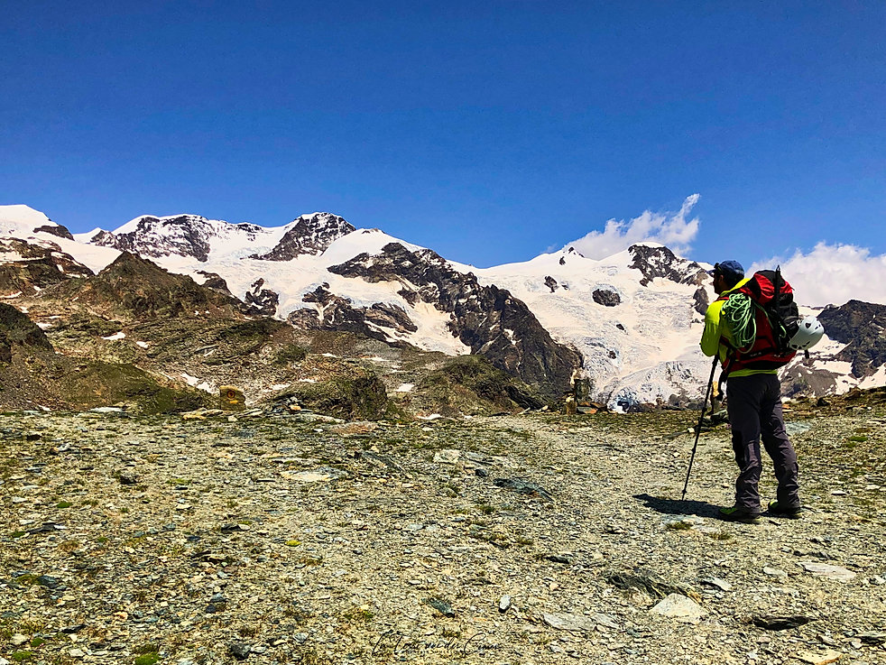 Lyskamm au dessus du col de Bettaforce (Val d'Aoste)