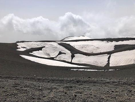 Cratère enneigé - Etna (Sicile)