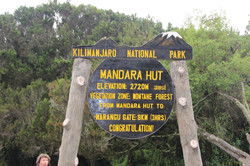 Mandara Hut, dernière étape