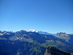 Mt Blanc depuis la pte de Bellegarde