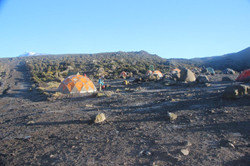 Notre camp à Horombo Hut