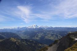 La chaîne du Mt Blanc