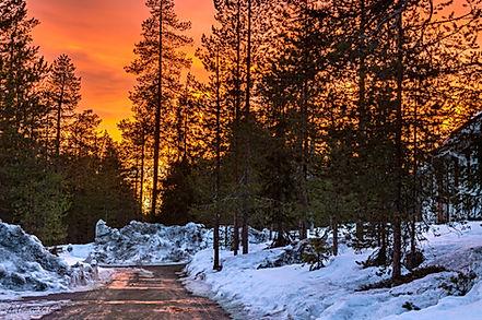Coucher de soleil en Laponie