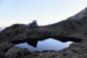 Refuge et étang du Pinet (Ariège)