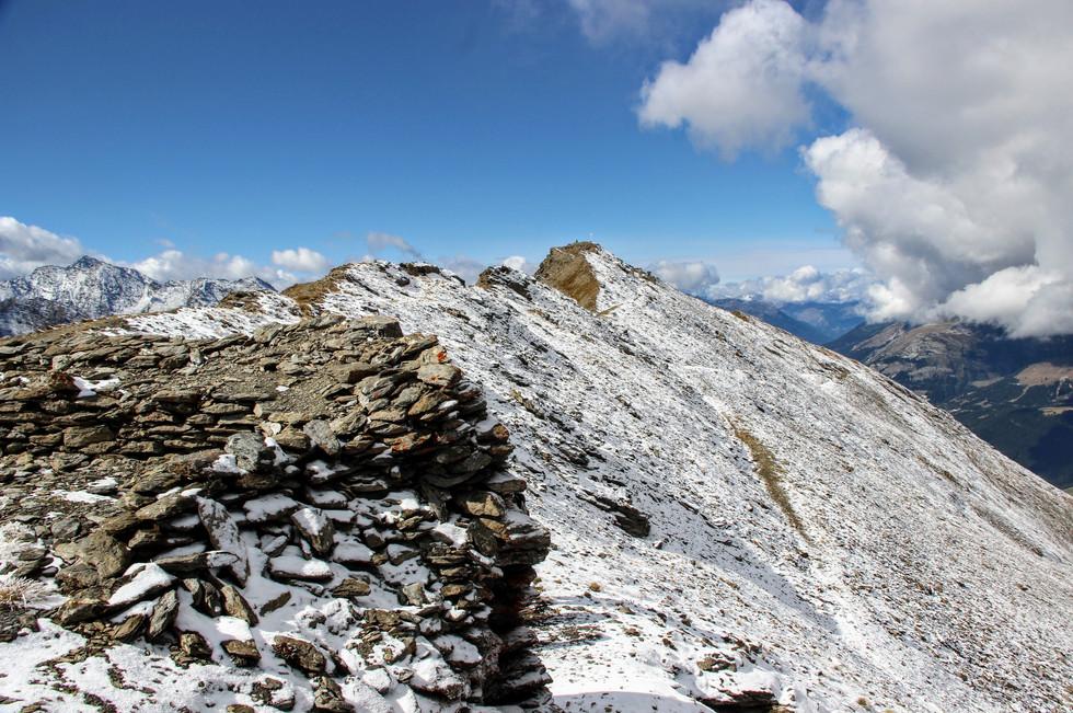La crête sommitale du mont Froid