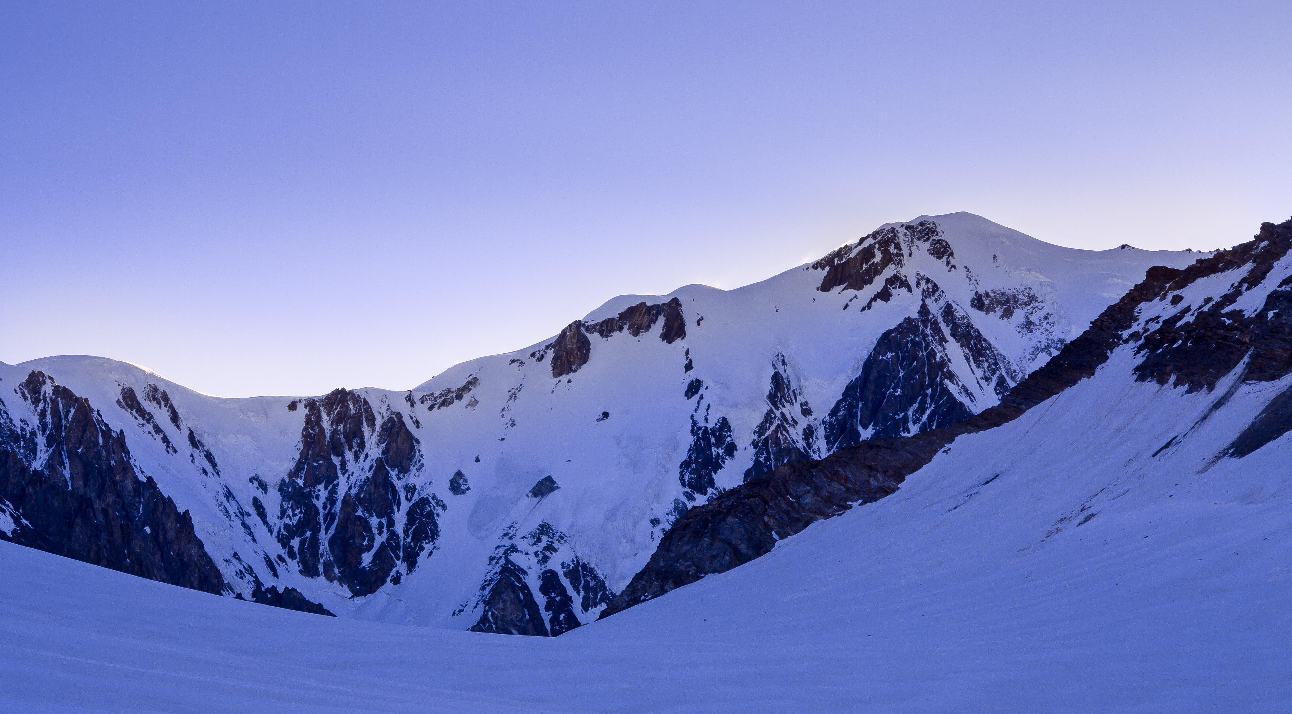 Mont Blanc depuis le col infranchissable