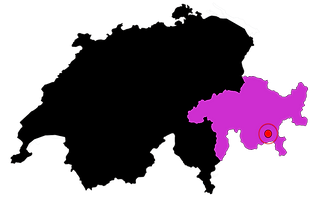 Carte localisation Engadine