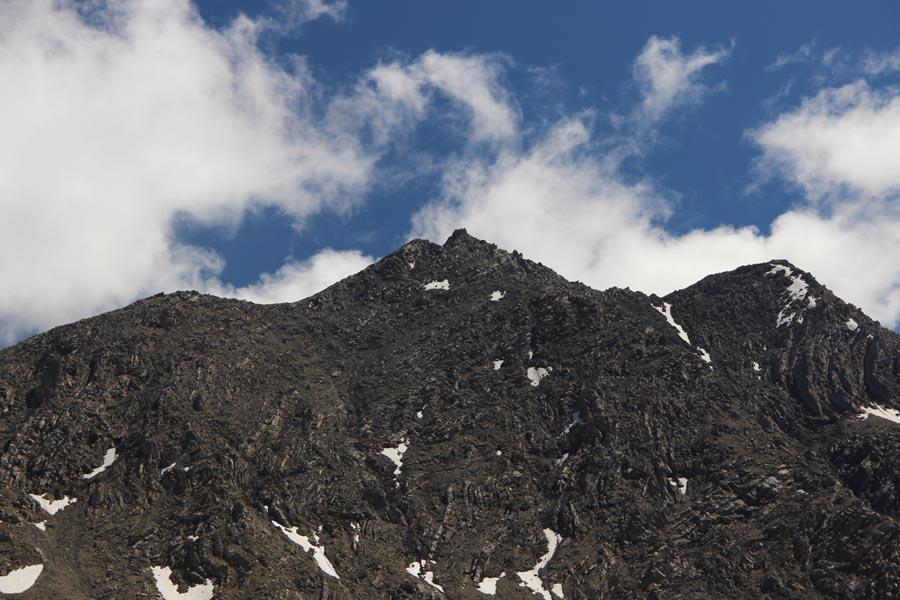 Le sommet sans neige
