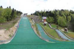 Les tremplins de saut à ski de Chaux