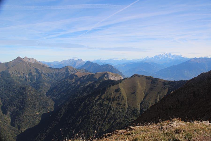 En direction du massif du Mt Blanc