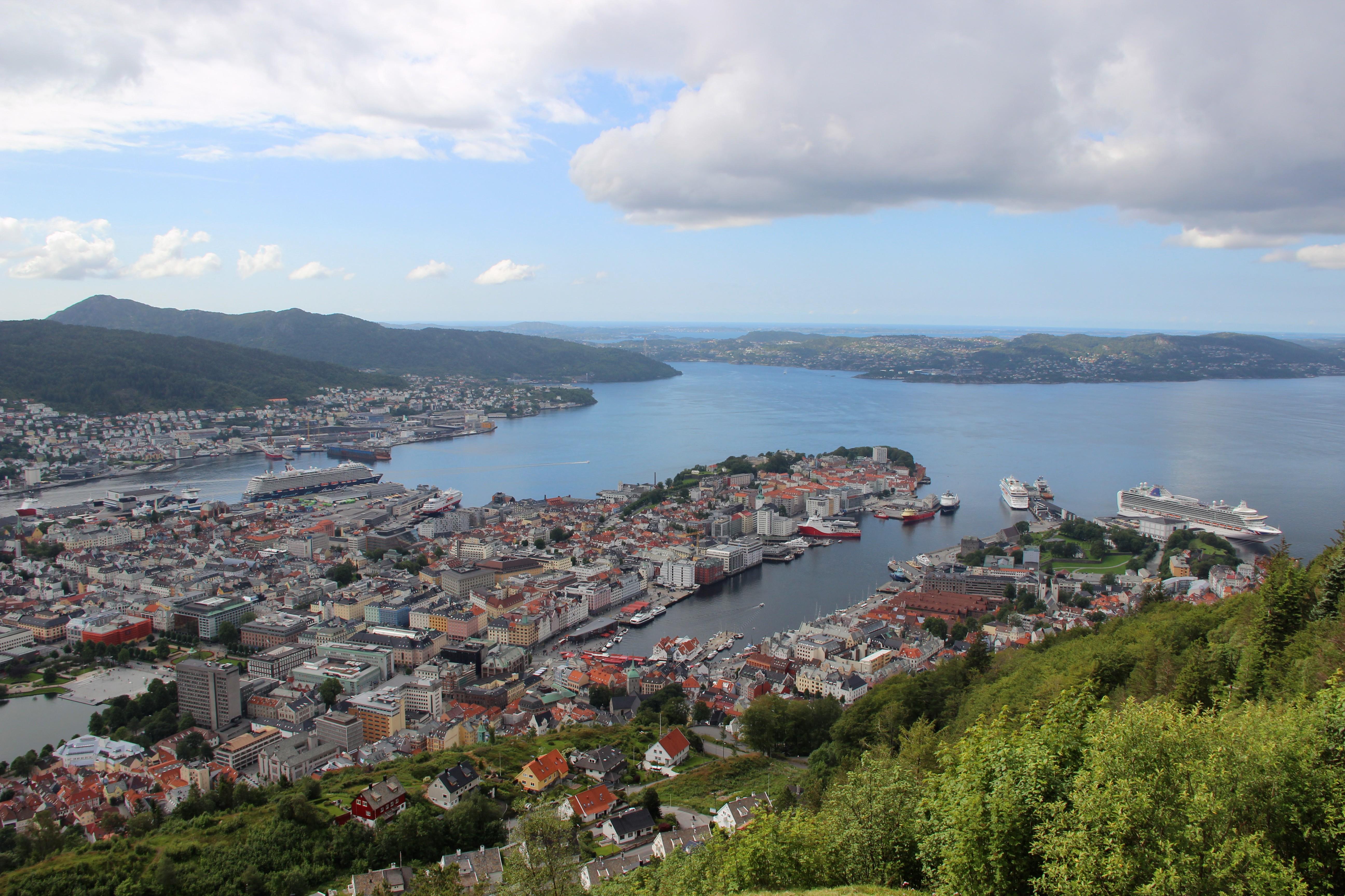 Bergen depuis Floyen