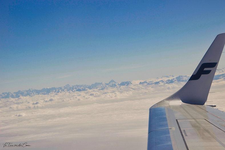 Les Alpes vue du ciel