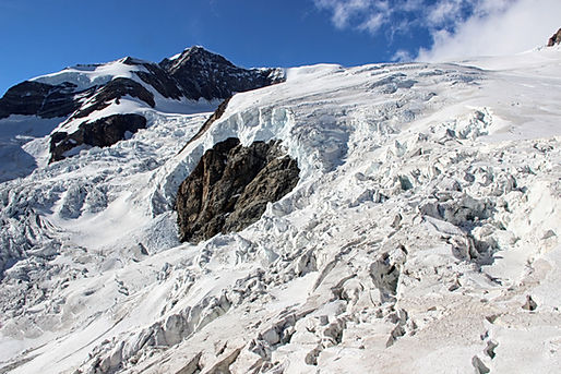 Lyskamm et glacier du Lys