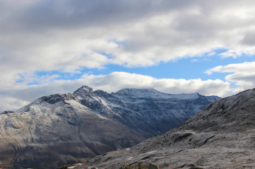 La pointe de Ronce (3612 m) dominant le mont Cenis
