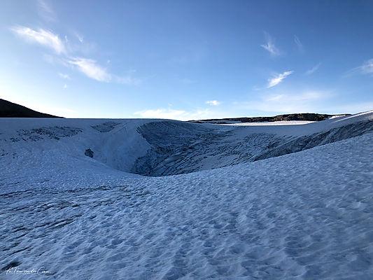 """""""Vague"""" du glacier de Roche Ferran (Vanoise)"""