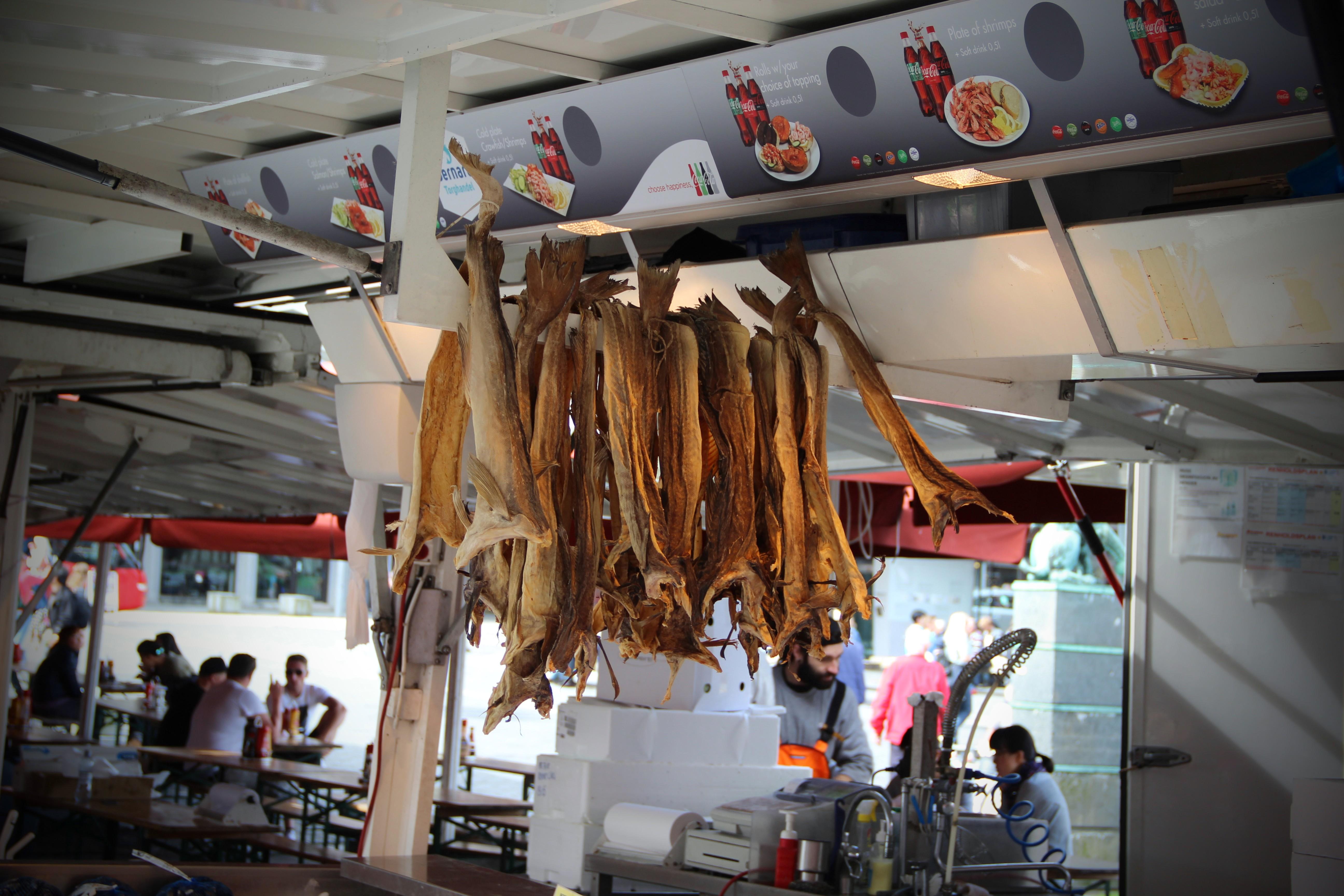 Harengs au marché de Bergen